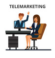 telemarketing online sales business conference vector image vector image