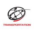 Transport logo vector image vector image