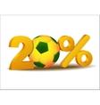 Twenty percent discount icon vector image vector image