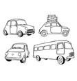 vintage cars set vector image