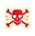 vintage red skull vector image