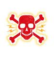 vintage red skull vector image vector image