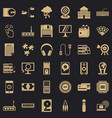 web development icons set simple style vector image vector image