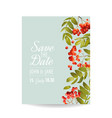 wedding invitation template floral card vector image