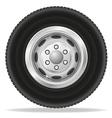 wheel for truck vector image