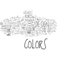 woo your viewers through colors text word cloud vector image vector image