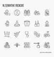 alternative medicine thin line icon set vector image