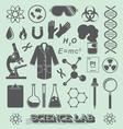 Scientist Lab Icon and Symbols vector image