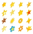 Star icons set isometric 3d style vector image
