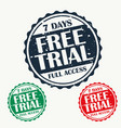 free trial stamp set vector image