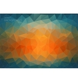 Abstract triangle backgound for web Blue and vector image vector image