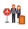 airport industry design vector image vector image