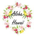 Aloha hawaii vector image vector image