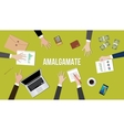 Amalgamate concept in a team vector image vector image