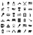 american icons set simple style vector image vector image