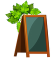 An empty menu board with plants vector image vector image