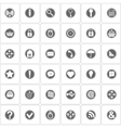 Basic icons set vector image vector image