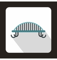Bench with backrest icon flat style vector image vector image
