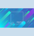 blue creative solutions background with geometric vector image vector image