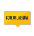 book online now price tag vector image vector image