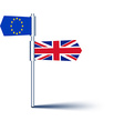 Brexit background with flags vector image