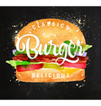 Burger chalk vector image vector image