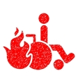 Burn Patient Grainy Texture Icon vector image vector image
