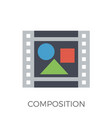 composition icon vector image