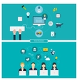 Concept of social media network project vector image vector image