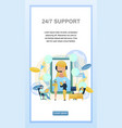 concept online support customer vector image vector image