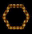 contour hexagon halftone icon vector image