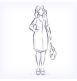 Contour of overweight elegant woman vector image vector image