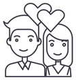 couple in lovehearts line icon sign vector image vector image