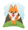 cute fox animal wildlife vector image vector image