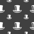 cylinder hat icon sign Seamless pattern on a gray vector image vector image