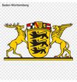 emblem baden-wrttemberg province germany vector image