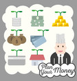 financial icon plan money investment vector image vector image