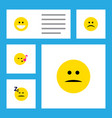 flat icon expression set of descant sad grin and vector image vector image