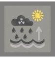 flat shading style icon Radioactive cloud and rain vector image vector image