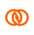 gg ozo czc oo initials company logo vector image