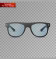 glasses on transparent background vector image