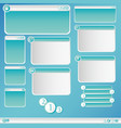 graphic dialog box vector image