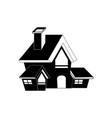halloween house icon vector image vector image