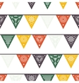 Hanging traditional mexican banners flags vector image vector image