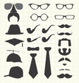 Hats and Other Fashion Elements vector image vector image