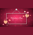 heart frame valentine s day vector image