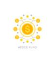 hedge fund icon vector image vector image