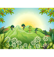High mountains at the forest vector image vector image