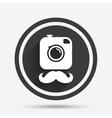 Hipster photo camera sign icon Retro camera vector image vector image