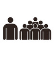Human figure and group of people vector image vector image